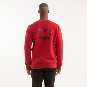 SWEATSHIRT CREW PARIS DARK BLOOD