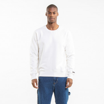 SWEATSHIRT CREW PARIS OFF WHITE