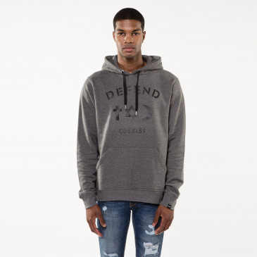 Sweatshirt CO HOOD GREY