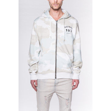 Sweatshirt CO ZIP CAMOU WHITE