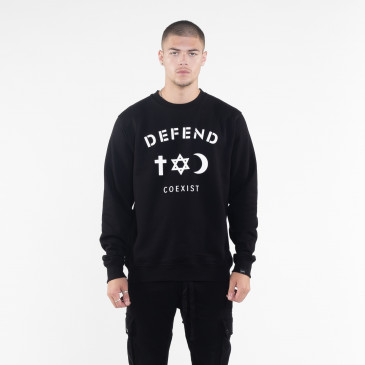 Sweatshirt CO CREW BLACK