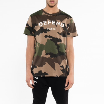 T-shirt DEFEND TEE CAMOU TAN