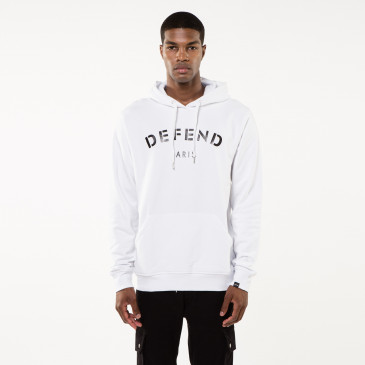 Sweatshirt DEFEND HOOD WHITE