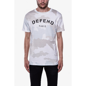 T-shirt DEFEND TEE CAMOU BLANC