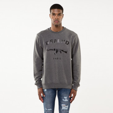 Sweatshirt PARIS CREW GREY
