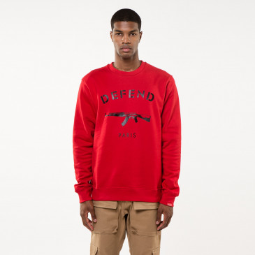 Sweatshirt PARIS CREW RED