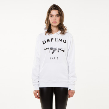 Sweatshirt PARIS HOOD WHITE