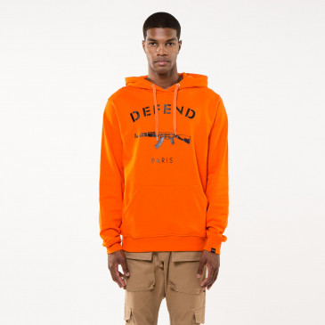 Sweatshirt PARIS HOOD ORANGE