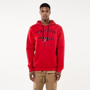 Sweatshirt PARIS HOOD RED