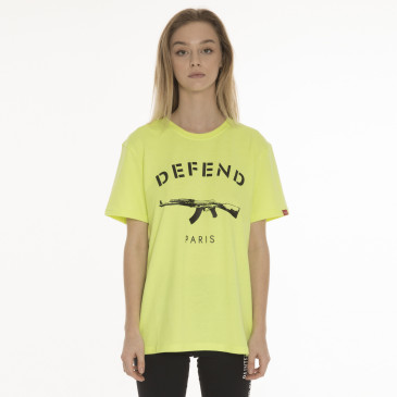 T-shirt PARIS TEE NEON YELLOW
