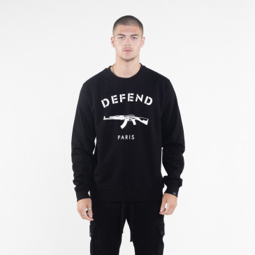 Sweatshirt PARIS CREW BLACK