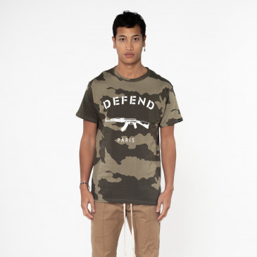 T-shirt PARIS TEE CAMO KAKI