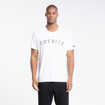 T SHIRT ICONIQUE EASY COEXIST OFF-WHITE
